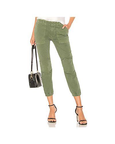 Укороченные брюки карго зеленый Nili Lotan