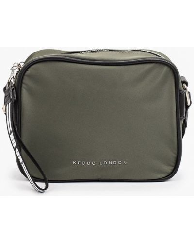 Нейлоновая сумка через плечо - хаки Keddo