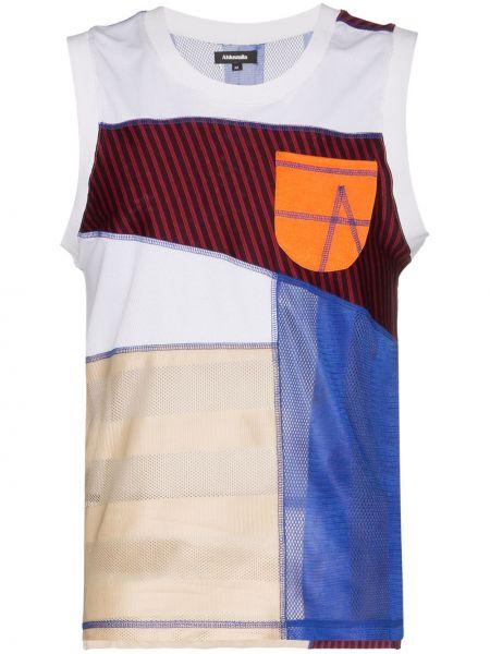 Niebieska kamizelka bawełniana z printem Ahluwalia Studio