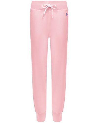 Хлопковые розовые брюки Polo Ralph Lauren