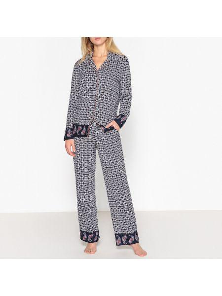 Пижама с брюками с рубашкой с карманами La Redoute Collections