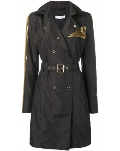 Черный длинный плащ Versace Collection