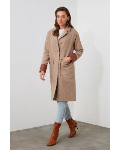Płaszcz skórzany Trendyol