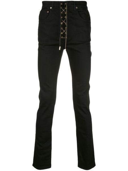 Czarne jeansy bawełniane z paskiem Garçons Infideles