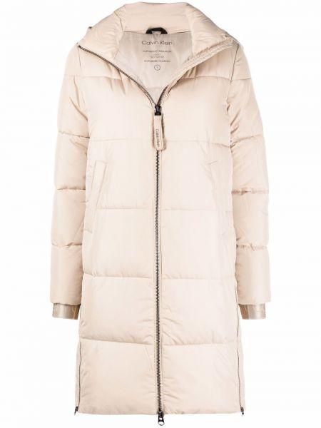Белое пуховое пальто Calvin Klein