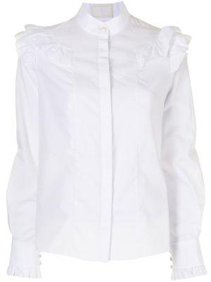 Biała koszula z długimi rękawami Erdem