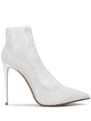 Белые текстильные лаковые кожаные туфли Le Silla