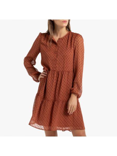 Платье с вышивкой на пуговицах La Redoute