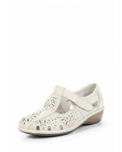 Бежевые кожаные туфли La Grandezza