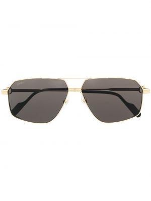Złote oprawka do okularów Cartier Eyewear