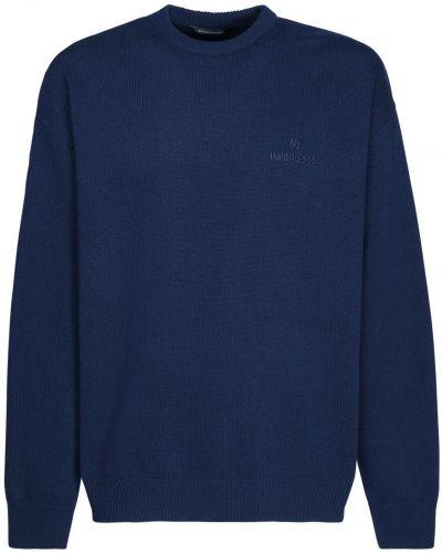 Z kaszmiru sweter z haftem Balenciaga