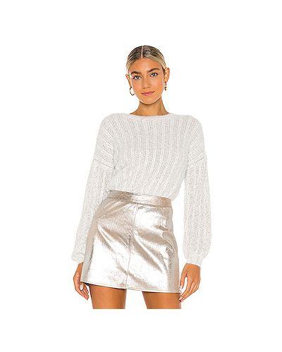 Кашемировый белый вязаный свитер с воротником Cupcakes And Cashmere