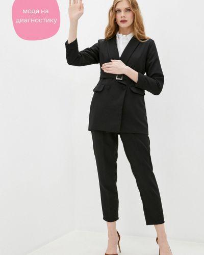 Костюмный черный брючный костюм Imocean
