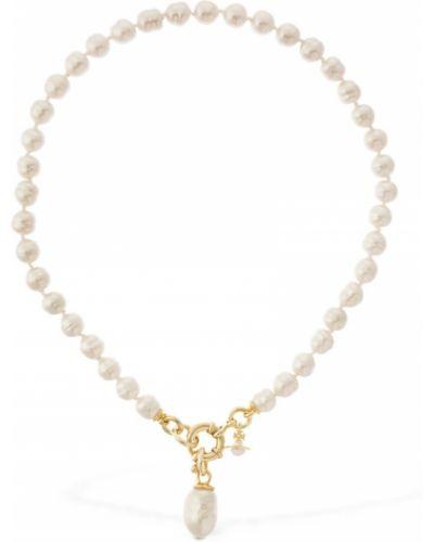 Biały złoty naszyjnik Vivienne Westwood