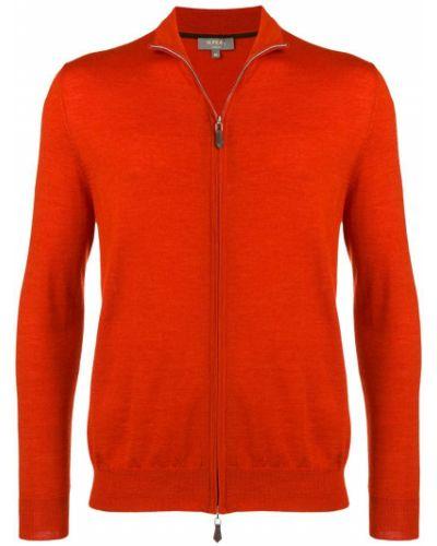 Оранжевый кардиган N.peal