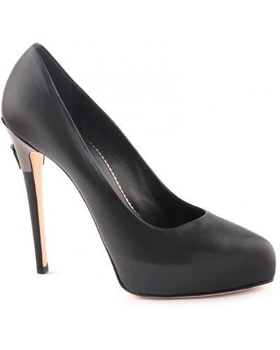Туфли на танкетке кожаные на каблуке Le Silla