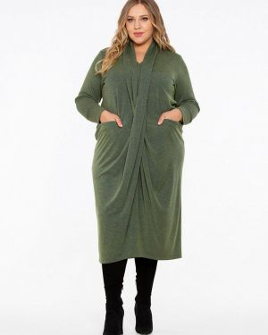 Повседневное платье осеннее зеленый Intikoma