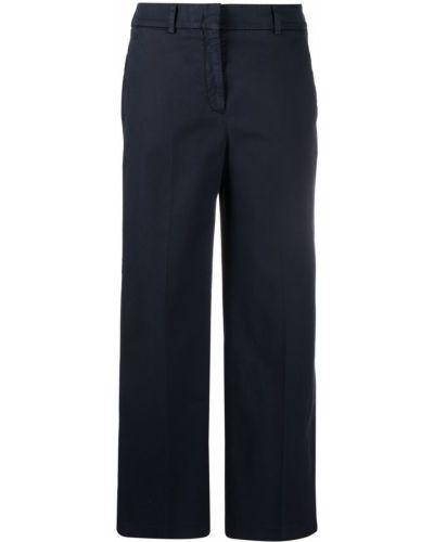 Темно-синие хлопковые чиносы с карманами Incotex