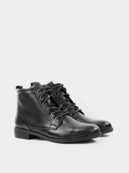 Кожаные ботинки - черные Kadar