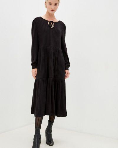 Прямое черное платье Noisy May