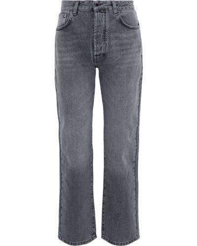 Черные прямые джинсы с вышивкой Victoria, Victoria Beckham
