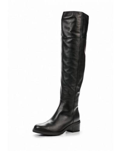 Черные кожаные ботфорты Tervolina