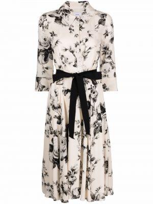 Шелковое платье - белое Erdem