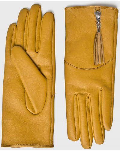 Кожаные перчатки желтый Medicine