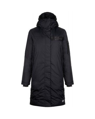 Черная утепленная длинная куртка на молнии Termit