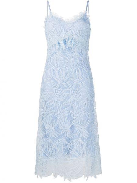 Sukienka midi z jedwabiu haftowana Ermanno Scervino