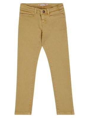 Хлопковые джинсы - бежевые Bonpoint