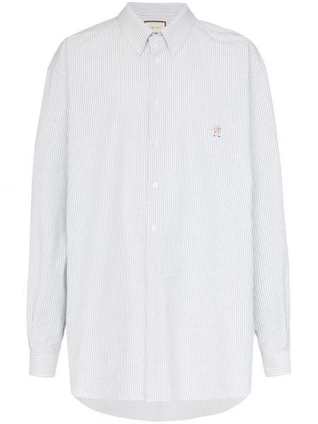 Koszula z długim rękawem klasyczna w paski Gucci