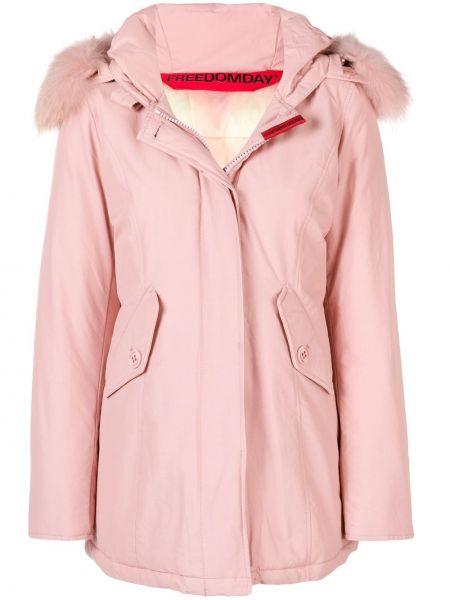 Розовая куртка с капюшоном свободного кроя Freedomday