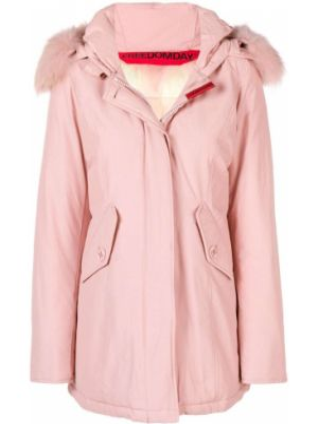 Розовая дутая куртка свободного кроя Freedomday
