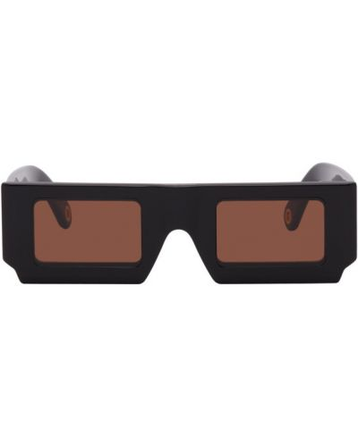 Złote czarne okulary Jacquemus