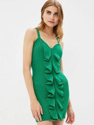 Платье с открытыми плечами - зеленое You&you