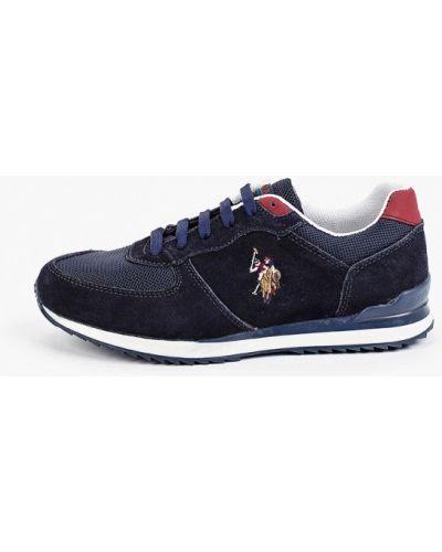 Текстильные синие низкие кроссовки U.s. Polo Assn.