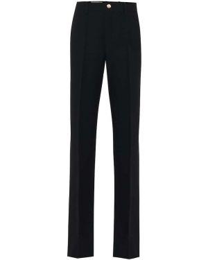 Свободные брюки расклешенные шерстяные Gucci