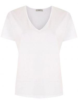 Хлопковая с рукавами белая футболка Egrey