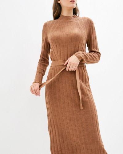 Вязаное платье - коричневое Only