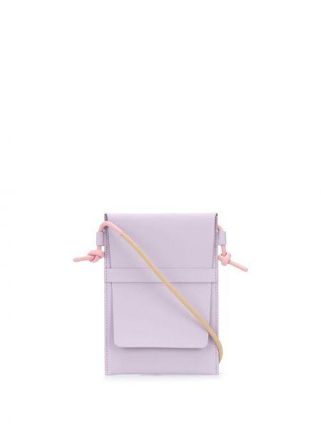 Фиолетовая сумка через плечо с перьями Pb 0110