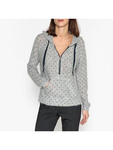 Пуловер в рубчик с капюшоном Leon & Harper