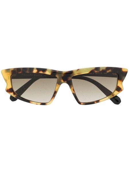 Brązowe okulary Philipp Plein