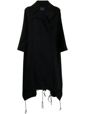 Czarny ponczo wełniany Yohji Yamamoto
