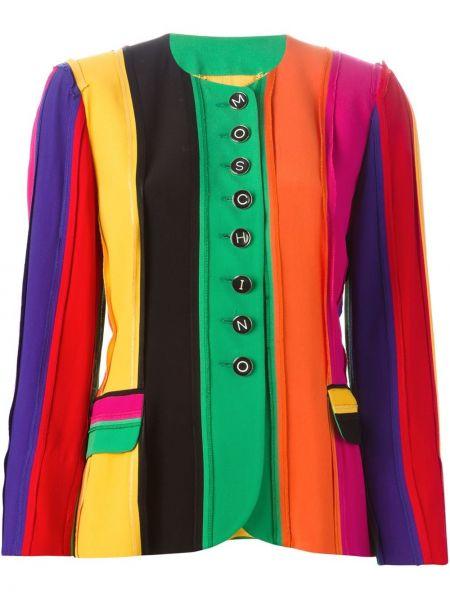 Пиджак винтажный с рукавом 3/4 из вискозы Moschino Pre-owned