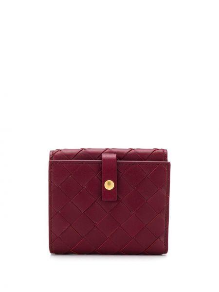Кожаный кошелек золотой французский Bottega Veneta
