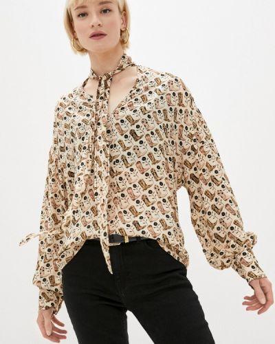 Бежевая блузка с длинными рукавами Sandro