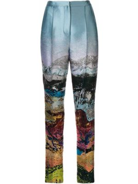 Зауженные брюки - синие Mary Katrantzou