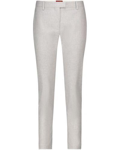 Серые укороченные брюки из вискозы Altuzarra