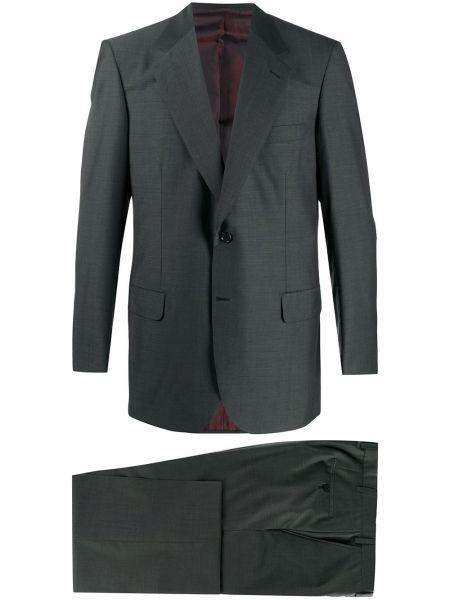 Шерстяной костюм - серый Brioni